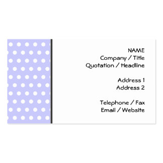 Lilac and White Polka Dot Pattern. Spotty. Business Cards
