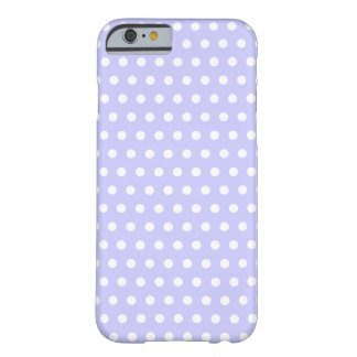 Lilac and White Polka Dot Pattern. Spotty. Barely There iPhone 6 Case
