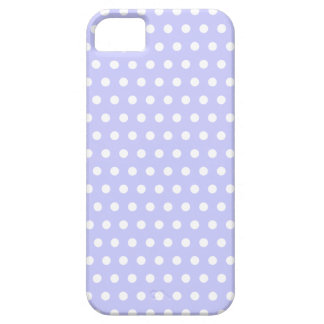 Lilac and White Polka Dot Pattern. Spotty. iPhone 5 Covers