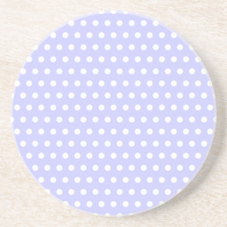 Lilac and White Polka Dot Pattern. Spotty. Coaster