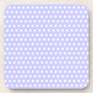 Lilac and White Polka Dot Pattern. Spotty. Beverage Coaster