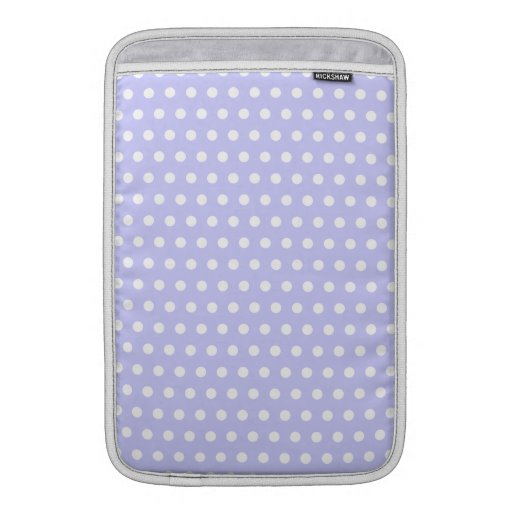 Lilac and White Polka Dot Pattern. Spotty. Sleeves For MacBook Air