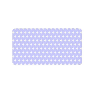 Lilac and White Polka Dot Pattern. Spotty. Custom Address Labels