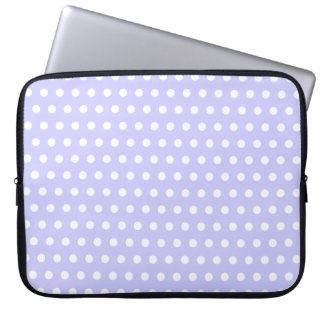 Lilac and White Polka Dot Pattern. Spotty. Laptop Sleeve