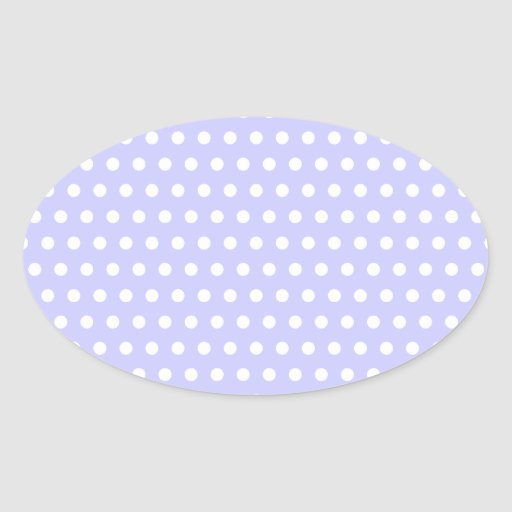 Lilac and White Polka Dot Pattern. Spotty. Oval Sticker