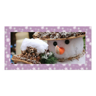 Lilac and White Snow Flurries Custom Card