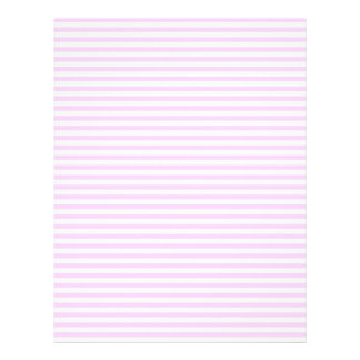 Lilac and white stripes letterhead