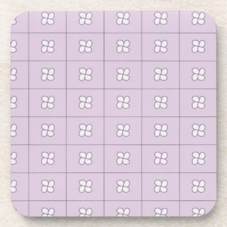 Lilac and white teardrop coasters