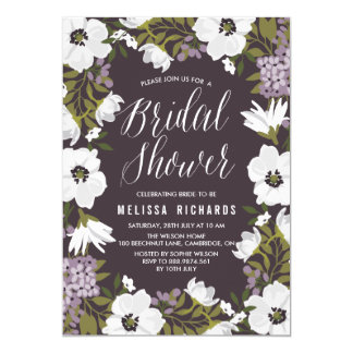 Lilac Anemone Blooms Bridal Shower Invitation