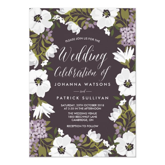 Anemone Wedding Invitations