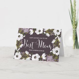 Lilac Anemones Blooms | Happy Mother's Day Card