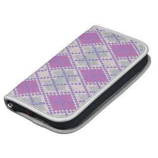 Lilac Argyle Knit Folio Smarphone Folio Planners