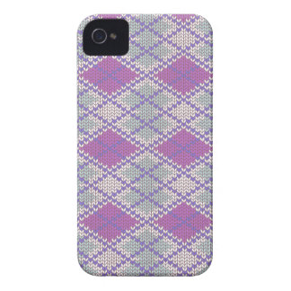 Lilac Argyle Knit iPhone 4 Case