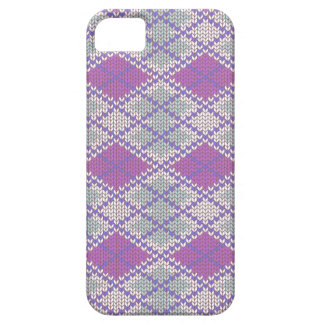 Lilac Argyle Knit iPhone 5/5S Case