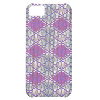 Lilac Argyle Knit iPhone 5C Case