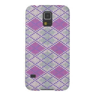 Lilac Argyle Knit Samsung Galaxy S5 Case