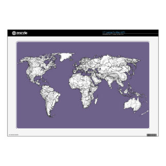 lilac atlas world map laptop skin