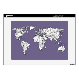 """lilac atlas world map decal for 15"""" laptop"""