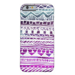 Lilac Aztec Pattern Barely There iPhone 6 Case