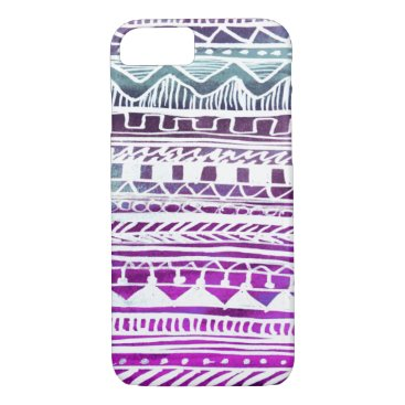 Aztec Themed Lilac Aztec Pattern iPhone 8/7 Case