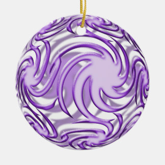 Lilac Ball Ceramic Ornament