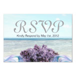 Lilac Beach Response Card Personalized Invites