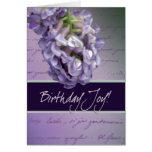 Lilac birthday joy cards