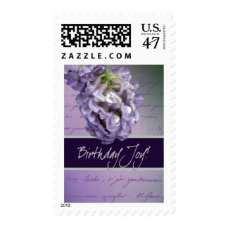 Lilac birthday joy postage