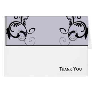 Lilac & Black Monogram Filigree Card
