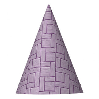 Lilac Block Print Party Hat