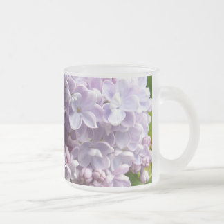 Lilac Blossoms frosted mug - Customized