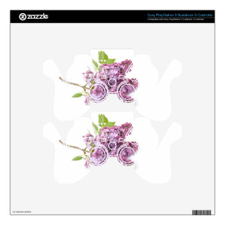 Lilac blossoms PS3 controller skin
