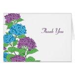 Lilac & Blue Hydrangeas Spring Wedding Thank You Greeting Card