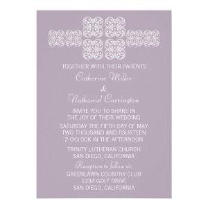 Lilac Bohemian Chic Wedding Invite