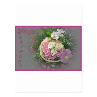 Lilac bouquet birthday card