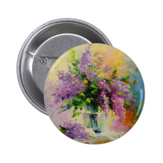 Lilac Bouquet Button