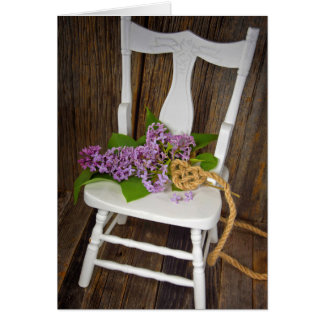 Lilac Bouquet with rope heart Card