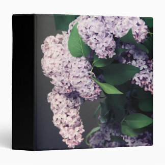 """Lilac Bouquet with Vignette 1.5"""" Photo Album 3 Ring Binders"""
