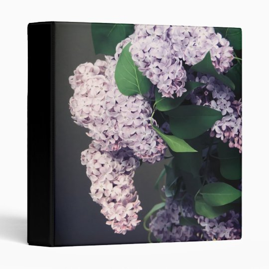 Lilac Bouquet with Vignette 3 Ring Binder