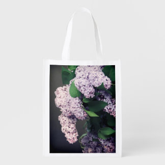Lilac Bouquet with Vignette Grocery Bag