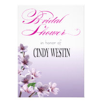 Lilac Branches Watercolor Bridal Shower Personalized Announcements
