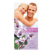 Lilac Branches Watercolor Flowers Customized Photo Card