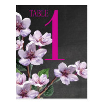 Lilac Branches Watercolor Flowers Table Card Post Card