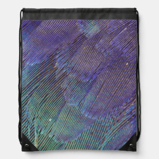 Lilac-breasted Roller feathers Drawstring Bag