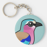 Lilac-breasted Roller Basic Button Keychain