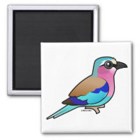 Lilac-breasted Roller Square Magnet