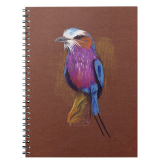 lilac-breasted roller notebook