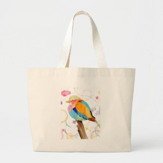 Lilac Breasted Roller Watercolor Tote Bag