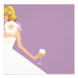 lilac bridal shower invitation