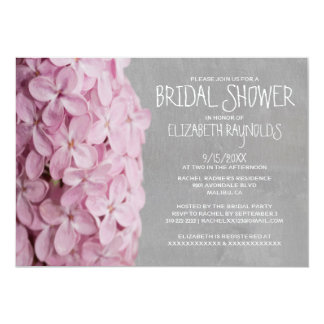 Lilac Bridal Shower Invitations Personalized Invite